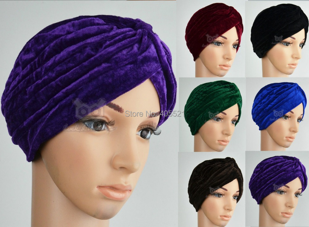 New Fashion Celeb Style Neon Headband Vintage Double Stretch Velvet Turban Head wrap 6 Colors Free Shipping Turbante new fashion indian style velvet flapper jeweled brooch swomen turban headband ear warmer hat g 254