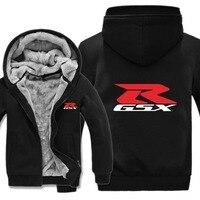 2019 Free Shipping GSX R Hoody Pullover Suzuki Motor Hoodies Jacket Winter Men Casual Wool Liner Fleece Suzuki Sweatshirts