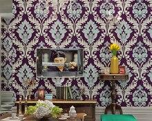 Beibehang Papel De Parede Europischen Stil Gelb Blau Lila 3D Tapete Wohnzimmer Schlafzimmer TV Hintergrund