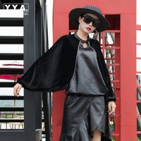 Batwing Sleeve Fashion Blouse Shirt Female Loose Natural Real Sheep Leather Spliced Sheepskin Chiffon Women Vintage Streetwear
