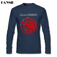 Game Of Thrones 2017 New Arrival Tee Shirt Men Male Long Sleeve O Neck Cotton Men