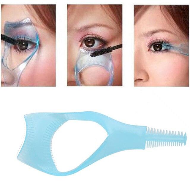 10Pcs 3 in 1 Mascara Eyelash Brush Curler Lash Comb Mascara Applicator Guide Cosmetic Makeup Tools #3476