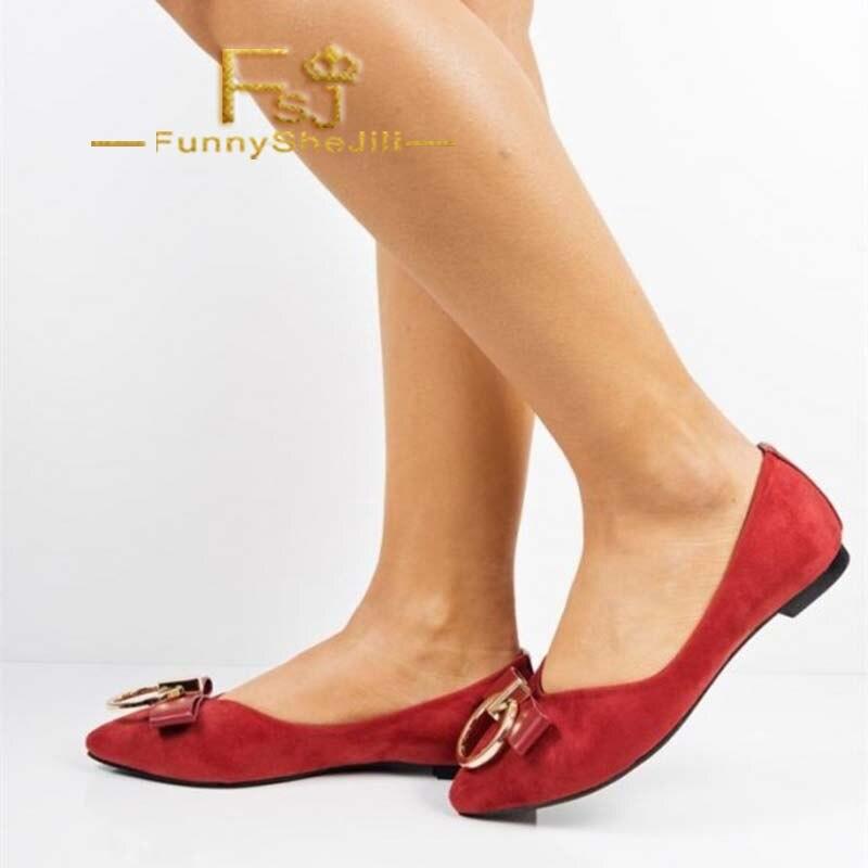 Incomparable Fsj Arc Avec Cyber Généreux Mode Chaussures Confortables Noble Bout Fsj01 Rouge Pointu Lundi Anniversaire Appartements Attrayant wpzS6Xfq