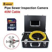 Eyoyo 40 mt kanalisation wasserdichte kamera rohr pipeline ablauf video inspektion system 7