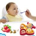 New Segurança Do Bebê Tigelas Pratos Placa Multi Caixas Forma de Avião tigela Pratos de Aprendizagem Infantil Conjunto de Alimentação Do Bebê Talheres Tigelas Bpa livre