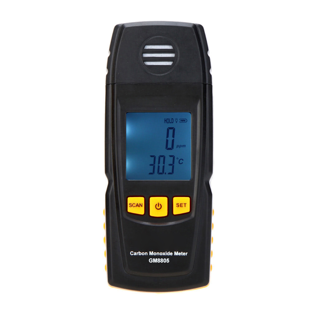Digital Carbon Monoxide Meter High Precision Portable CO Gas Monitor Detector Gauge 0-1000ppm Gas Leak Tester