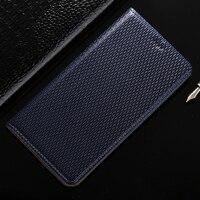 Top Genuine Leather Magnetic Case For BlackBerry Priv Denim Lines Retro Luxury Stand Flip Mobile Phone