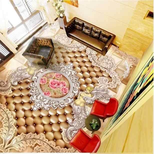 3D Мраморное напольное покрытие, спальня, ванная комната, кухня, водонепроницаемый напольный виниловый обои, европейский стиль, домашний декор пола, обои