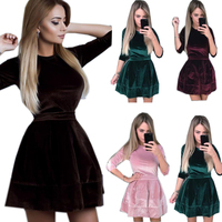 2017 Autumn Women S Dress Elegant Casual Package Hip Sexy Dress V Neck Bandage Bodycon Dresses