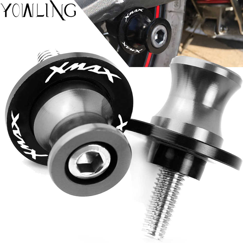 6MM Motorcycle accessories Swingarm Spools slider M6 stand screws For YAMAHA X MAX XMAX 125 200 250 300 400 X-MAX all years