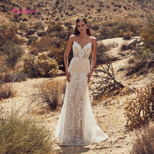 Vestido De Noiva Luxury Wedding Dress 2019 V-neck backless