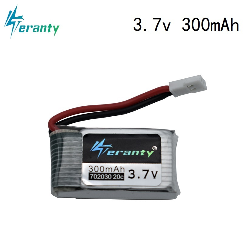3.7V 300mAh Lipo Battery For Eachine E55 FQ777 FQ17W DFD F180 FY530 U816 U830 Battery 20C 702030 For RC Quadcopter Spare Part