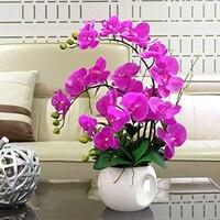 5 sztuk/partia Powłoką Lateksową Orchid Phalaenopsis Kwiat Prawdziwy Dotyk Sztuczny Kwiat Wedding Party Fałszywy Kwiat P10