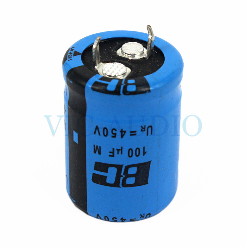 DIY Amplifier Accessories HIFI Capacitor VISHAY BC 450V 100UF Capacitance Amps Electrolytic Capacitor Filter 1PC Free Shipping