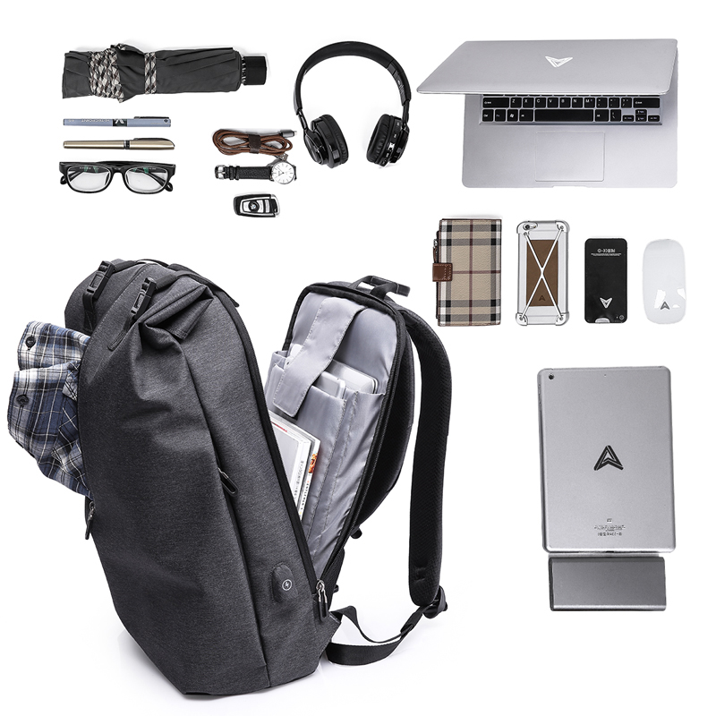 ᗗKAKA 802 Moda hombre mochila portátil impermeable antirrobo viaje ...