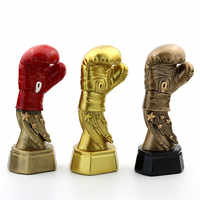 Electroplate Boxing Glove Trophy Gold-plated Match Trophies Boxing Trofeo Keepsake Trophies And Awards Souvenirs R1559