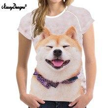 tシャツ女性3d柴犬印刷tシャツおかしい犬ショートスリーブtシャツファムため女の子カワイイtシャツカップル Noisydesigns
