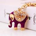 New Cute Elephant Animal Keychains Car Keyring Fashion Key Chain Metal Key Ring Holder Souvenir Gifts Novelty Trinket Wholesale
