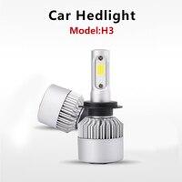 2 pairs bulbs H3 LED headlights 36W Auto Car Headlight 12V 32V 6000K for car leading