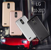 Phone Cases For LG K10 2017 Case Luxury Carbon Fiber Anti-drop TPU Soft Cover K 10