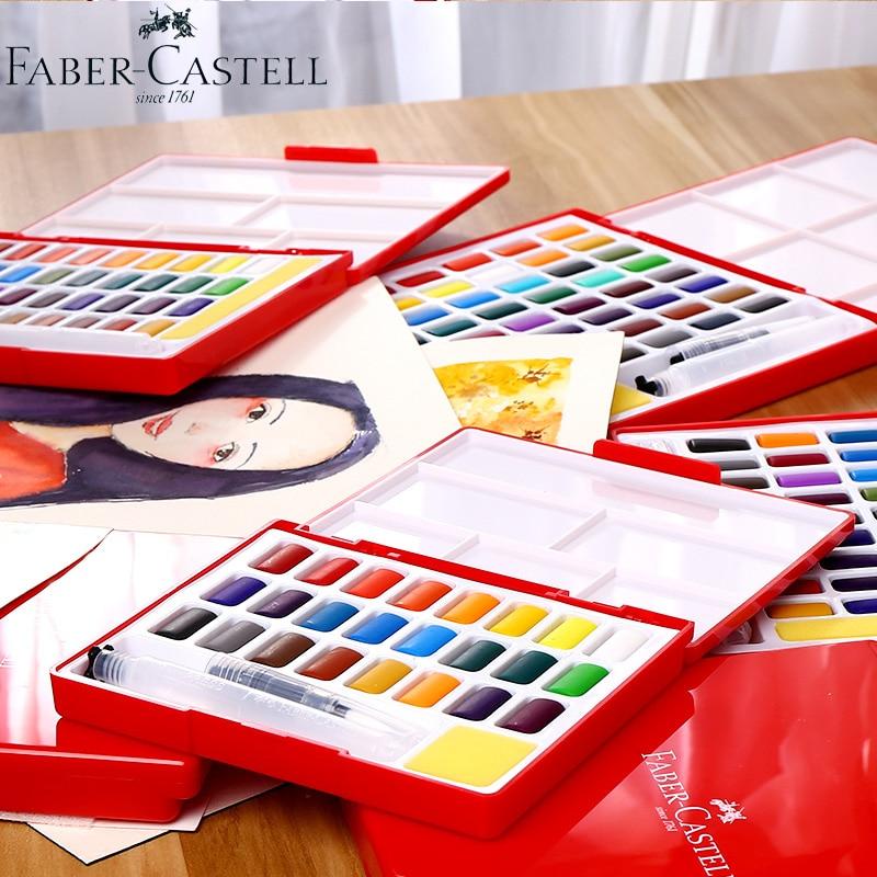 Faber Castell 243648 Renkler Katı Su Renk Boyama Seti Kutusu
