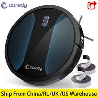 Coredy R500+ Smart Robot Vacuum Cleaner Dust Cleaning Robotic Rechargeable carpet robots cleaner Pet Hair with Boundary Stripe