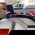 Pegar Catcher Caixa Caddy Fenda Lacuna Assento de Carro caixa de Luva de Armazenamento de Bolso Organizador caixa Slot Para AUDI A1 A3 A4 A5 A6 A7 Q3 Q5 Q7 2 Pcs