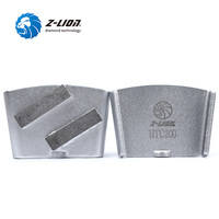 Z LION 3pcs Lot HTC Diamond Grinding Disc 2 Segments Metal Bond Diamond Grinding Block For