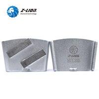 Z LION 3pcs Lot HTC Diamond Grinding Disc 2 Segments Metal Bond Diamond Grinding Block For