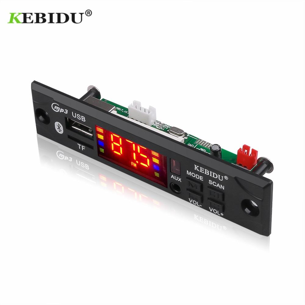 Kebidu Car Audio USB TF FM Radio Module Wireless Bluetooth 5V 12V MP3 WMA Decoder Board MP3 Player with Remote Control For Car(China)