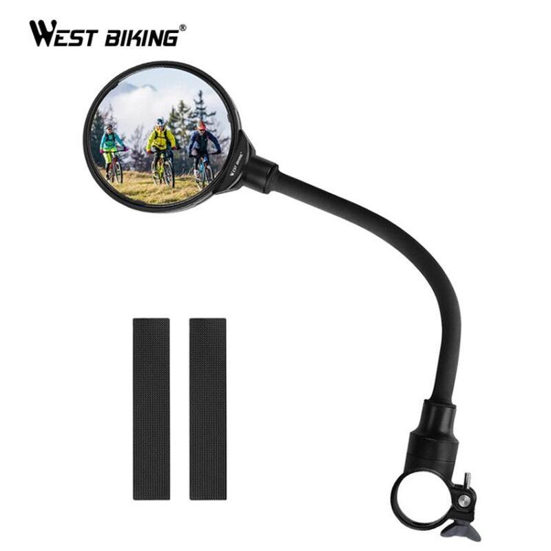 WEST BIKING Bike Rearview Mirror Handlebar Mirror MTB Road Bicycle Motocycle Flexible Adjustable Cycling Rear View Mirror 1 PC|Bike Mirrors| |  - title=