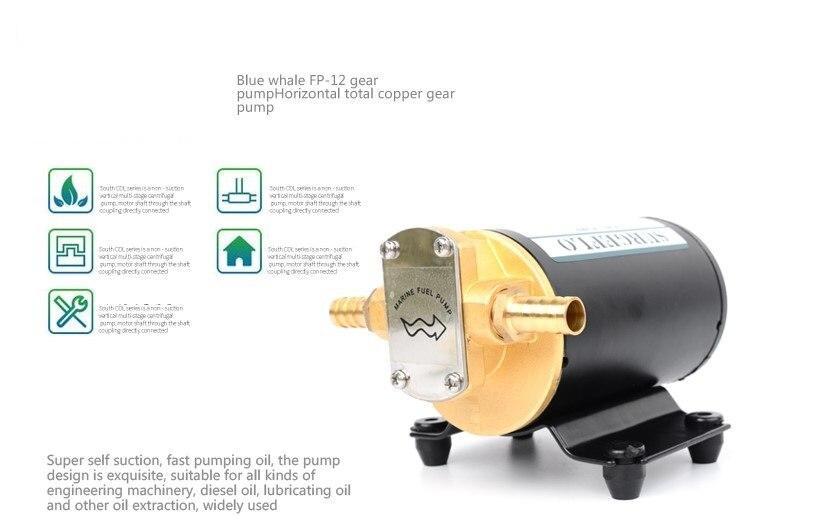 CE ISO Voiture Extracteur D'huile Pompe DC12V 24 V IP55 pompe de transfert de carburant Moto Diesel Fluide De Récupération D'huile Liquide Échange Transfert - 2