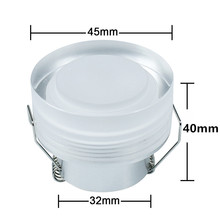 1Pcs 3W Acrylic LED Ceiling Downlight AC85V-265V Recessed LED | With LED Driver For Home Lighting