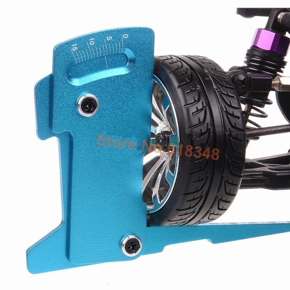 Adjustable Ruler Adjusting RC Car Height & Wheel Rim Camber 15 degrees Hobby Tools CNC For 1/8 1/10 Tamiya HSP HPI adjustable ruler measure rc car height