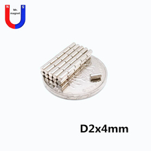 2000pcs 2mm x 4mm Mini small round Super powerful Magnets cylinder 2*4 strong magnet 2x4 Rare Earth Neodymium Magnet N35