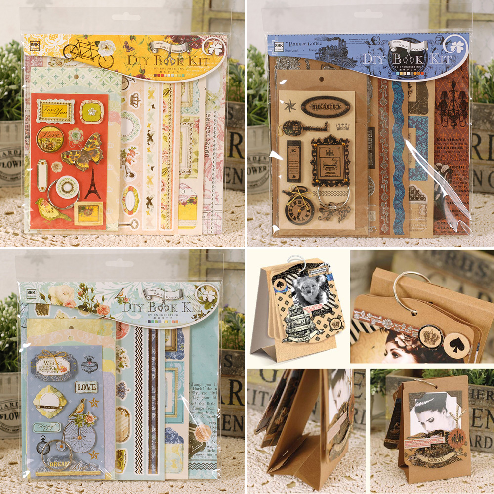 creative mini scrapbook kit diy easy making mini photo album for home desk decoration in photo. Black Bedroom Furniture Sets. Home Design Ideas