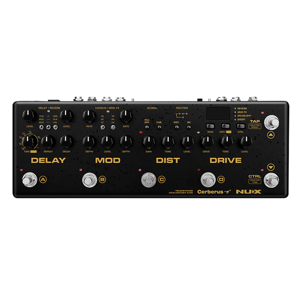 NUX Cerberus pédale de guitare intégrée basse électrique analogique Overdrive distorsion Modulation Chorus retard Multi effets