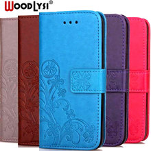 Luxury Clover 3D Emboss Case For Xiaomi Redmi Note 7 Flip Leather for Coque Protective Cover