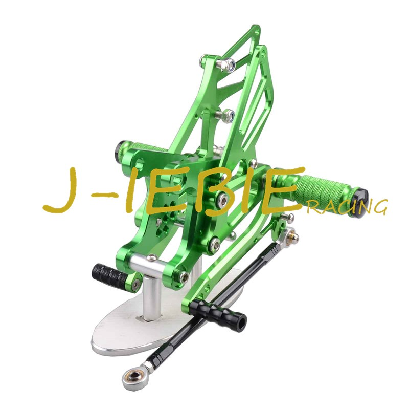 CNC Racing Rearset Adjustable Rear Sets Foot pegs Fit For Kawsaki NINJA ZX6R 2005 2006 2007 2008 GREEN morais r the hundred foot journey