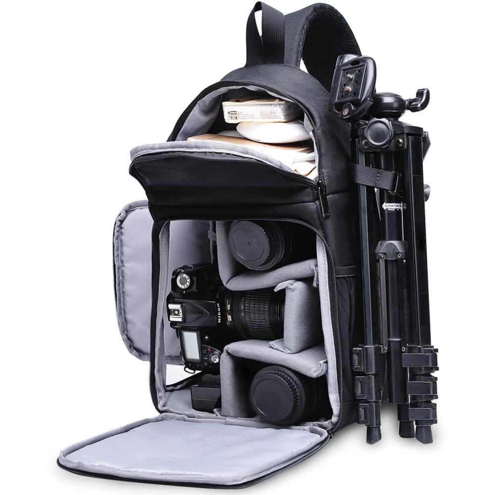 CADeN Photo caméra sac à bandoulière épaule croix numérique étui étanche couverture de pluie DSLR doux hommes femmes sac pour Canon Nikon Sony SLR