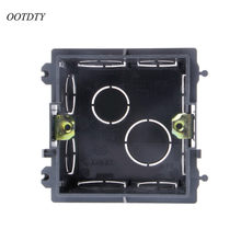 OOTDTY 86 Cassette Wall Plate Box For 86 Type PVC Wall Plate Switch And Socket Stair step Light Lamp Lighting(China)