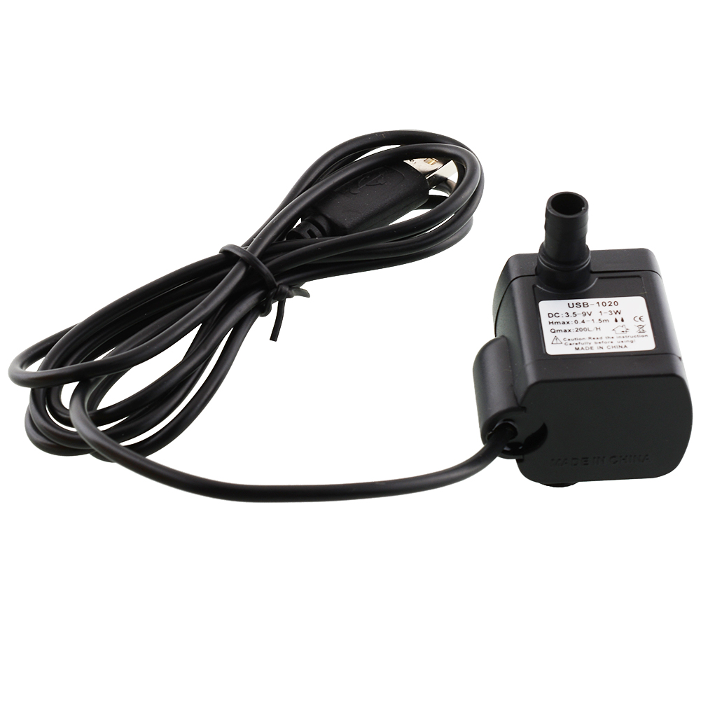 DC 3.5V-9V 3W USB Fountain Water Pump Fish HOT 200L//h Water Circulating
