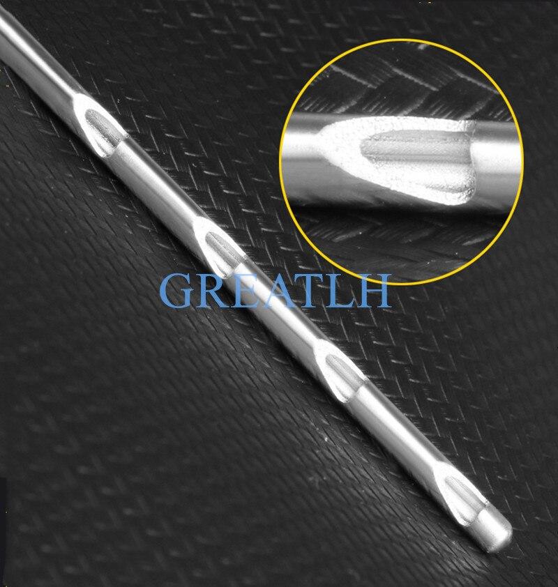 1pcs Fat harvesting cannula for stem cells liposuction cannula fat transfer needle scraper needle Porous planer