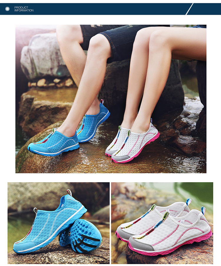 2017 6Colors Mens Shoes Breathable Mesh Women Aqua Shoes Walking Super Light Summer Women Slip On Shoes Men Water Beach Shoes (4)
