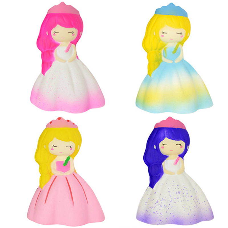 Jumbo Kawaii Princess Girl Doll Squishy Slow Rising Soft Squeeze Toy Bread Cake Scented Stress Relief Fun For Kid Xmas Gift