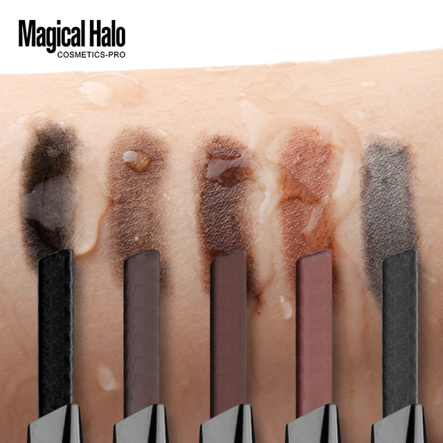 Brand Makeup High Quality 5 Color Automatic Matte Eyebrow Pencil Waterproof With Brush Tool Long-lasting Cosmetics Eye Brow Pen 4