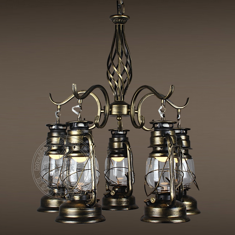 Multiple Chandelier Lighting Lantern Kerosene Lamp Retro Iron Lights American Coffee Restaurant Industry Gy226 In Pendant From