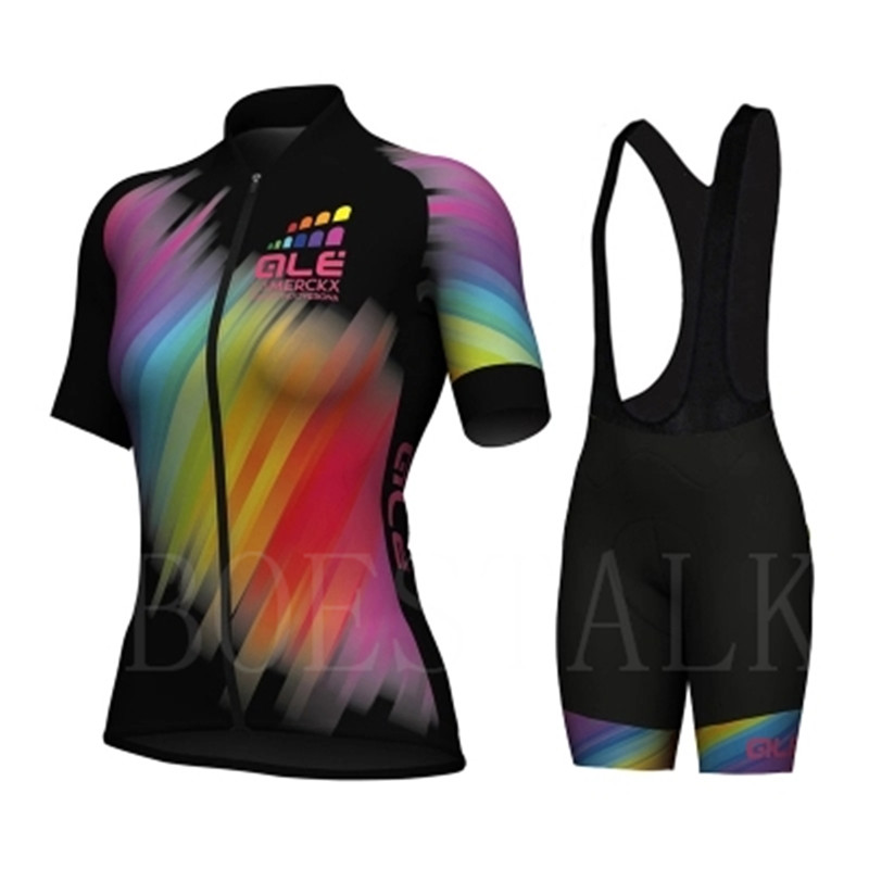 2018 ALE New Style Jersey Short Sleeve Suit Lady Bike Mountaineering Clothing Set mtb Maillot Bike Costume Uniform