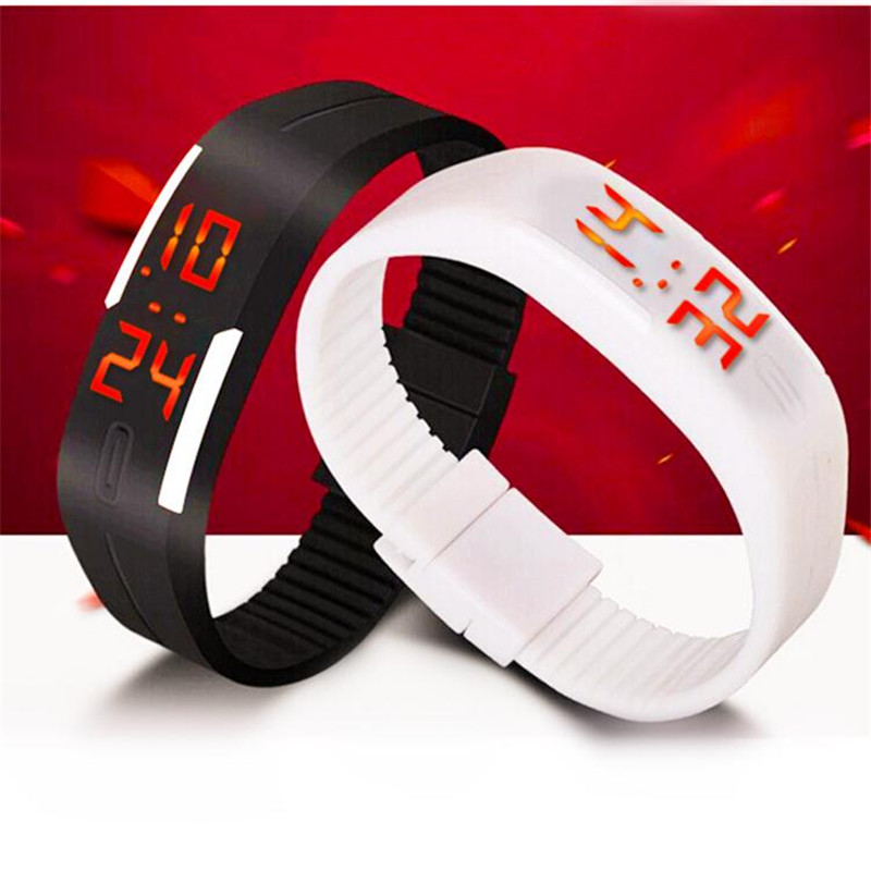2016 New Fashion Touch Screen LED Bracelet Digital Watches For Men Ladies Child Clock Womens Wrist