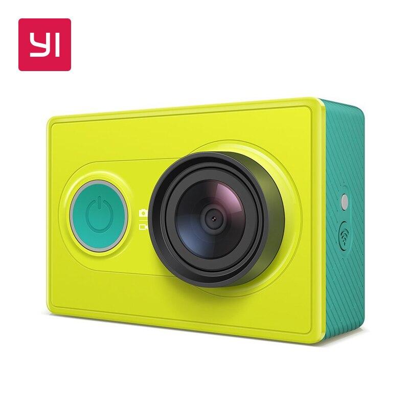 YI 1080 p acción cámara Mini cámara del deporte de alta resolución WiFi y Bluetooth Blanco/verde lima
